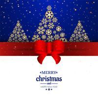 Fundo decorativo de cartão de feliz Natal vetor