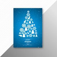 Projeto bonito do molde do partido do folheto do cartão de Natal feliz vetor