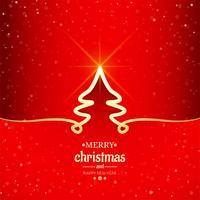 Fundo de árvore de linha mínima de feliz Natal vetor