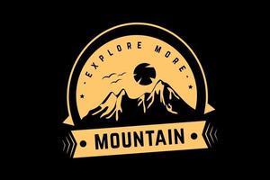 explore mais cor de montanha amarelo claro vetor