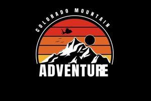 colorado montanha aventura cor amarelo e gradiente laranja vetor