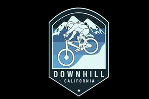 downhill california color blue and light blue vetor