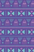 padrão étnico feito à mão, ornamento tribal africano vetor