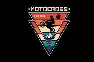 motocross califórnia cor laranja creme verde vetor