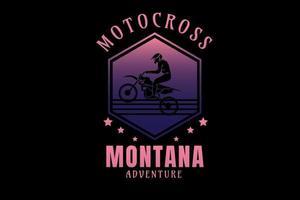 motocross montana aventura cor rosa e roxo vetor