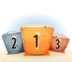 Pódio dos vencedores dos prêmios para a UI do jogo