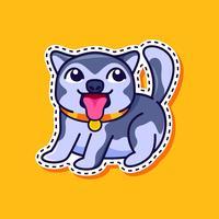 Lindo cão husky vector