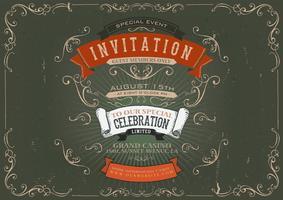 Fundo de Poster de convite vintage vetor