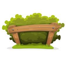 Hedge de desenhos animados com barreira de madeira