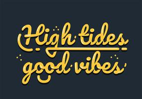 Maré alta boas vibrações Lettering