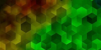 pano de fundo escuro multicolorido com hexágonos vetor