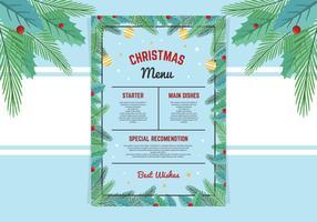 Belo modelo de menu de Natal vetor