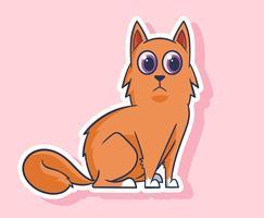 Gato e cão adesivos ilustração vetor
