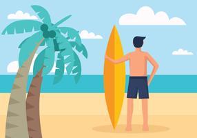 Ilustração em vetor de atividades de praia