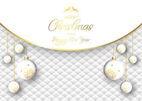 Fundo de bauble Natal luxuoso