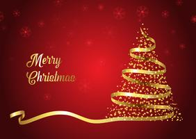 Fundo de fita de árvore de Natal vetor