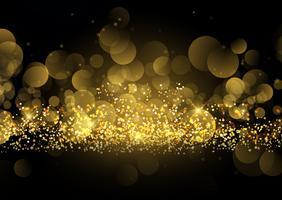 Fundo de brilho dourado brilhante vetor