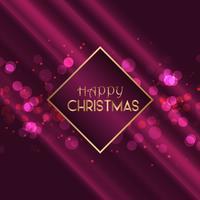 Fundo de Natal com design de luzes de bokeh