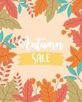 promoção de outono, temporada especial de liquidação ou pôster promocional vetor