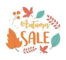 layout de venda de outono, venda de compras ou cartaz promocional vetor