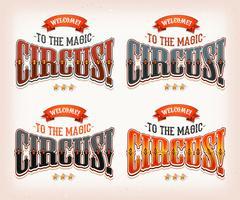 Banners de circo retrô vetor