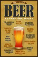 Como pedir uma cerveja em todo o mundo poster vetor
