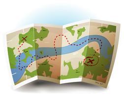 Ícone do mapa da terra vetor