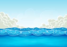 Fundo Do Oceano De Verão Para O Jogo De Ui vetor