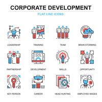 Conjunto de ícones de desenvolvimento corporativo vetor