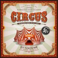 Cartaz quadrado velho do circo do vintage vetor