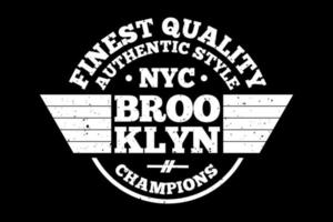 t-shirt tipografia da melhor qualidade campeões do brooklyn estilo vintage vetor