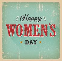 Cartão do dia das mulheres felizes vetor