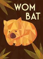 cartão com wombat australiano vetor