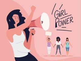 poder feminino, movimento de empoderamento feminino vetor