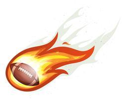 Futebol americano, foguete bola, queimadura vetor