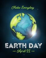 Cartaz da celebração do Dia da Terra vetor