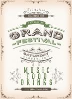 Fundo do poster do Festival Vintage vetor