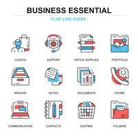 Conjuntos de ícones essenciais de negócios