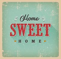 Cartão Home doce Home do vintage