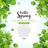 Nossa venda anual de primavera vetor