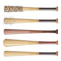 Conjunto de bastões de beisebol vetor
