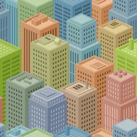 Fundo de cidade isométrica sem emenda vetor