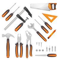 Conjunto de ferramentas de bricolage vetor