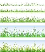 Camadas de grama verde sem emenda vetor