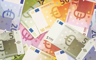 Fundo de notas de euro vetor