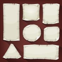 Conjunto de papel rasgado velho