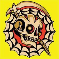 ícone de caveira de halloween vetor
