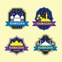 ilustração da mesquita do ramadã vetor