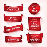 Coleção de rolagem de pergaminho de Natal vetor