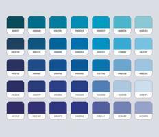 paleta de cores azul com hexadecimal vetor